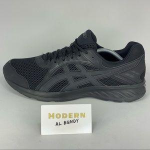 Asics Gel Running Shoes Triple Black Mens Sz 13